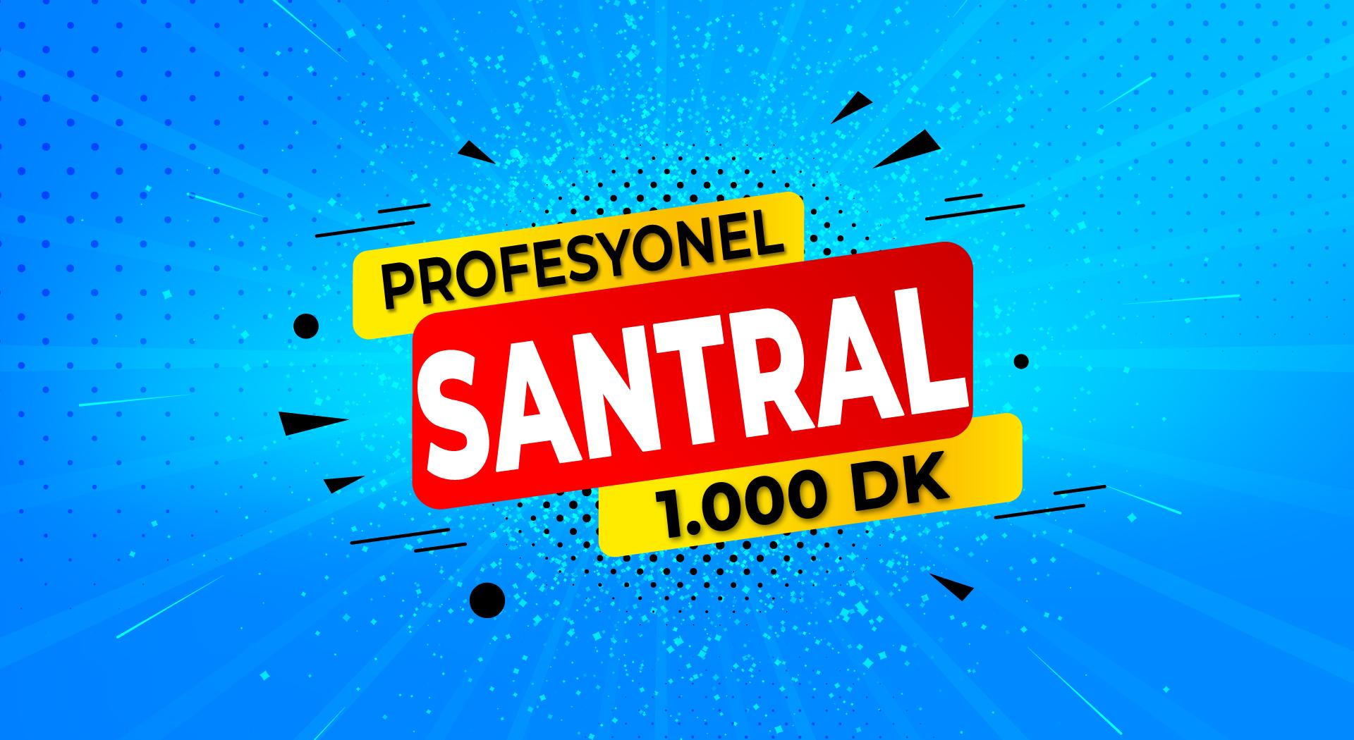 Profesyonel Santral + Her Yöne 1.000 DK